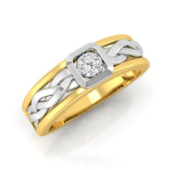 diamond studded gold jewellery - Debonair Men's Ring - Pristine Fire - 1