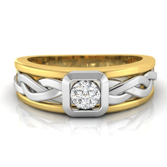diamond studded gold jewellery - Debonair Men's Ring - Pristine Fire - 2