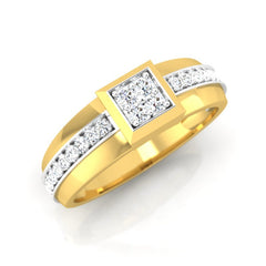 diamond studded gold jewellery - Dimitri Men's Ring - Pristine Fire - 1