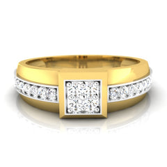 diamond studded gold jewellery - Dimitri Men's Ring - Pristine Fire - 2