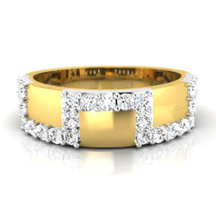 diamond studded gold jewellery - Domnic Men's Ring - Pristine Fire - 2