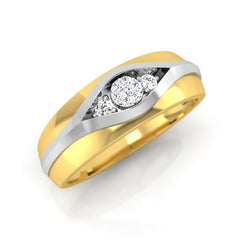 diamond studded gold jewellery - Don Men's Ring - Pristine Fire - 1