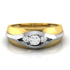 diamond studded gold jewellery - Don Men's Ring - Pristine Fire - 2