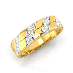 diamond studded gold jewellery - Earl Men's Ring - Pristine Fire - 1