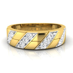 diamond studded gold jewellery - Earl Men's Ring - Pristine Fire - 2