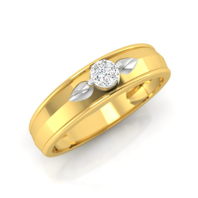 diamond studded gold jewellery - Eugene Men's Ring - Pristine Fire - 1