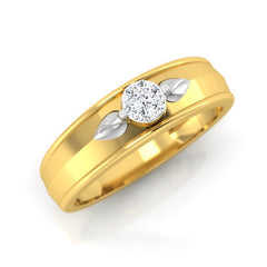 diamond studded gold jewellery - Eugenia Band Ring - Pristine Fire - 1