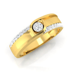 diamond studded gold jewellery - Evvan Men's Ring - Pristine Fire - 1