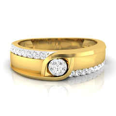 diamond studded gold jewellery - Evvan Men's Ring - Pristine Fire - 2