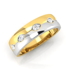 diamond studded gold jewellery - Fabian Men's Ring - Pristine Fire - 1