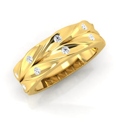diamond studded gold jewellery - Floyd Men's Ring - Pristine Fire - 1