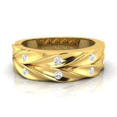 diamond studded gold jewellery - Floyd Men's Ring - Pristine Fire - 2