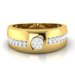 diamond studded gold jewellery - Francis Men's Ring - Pristine Fire - 2