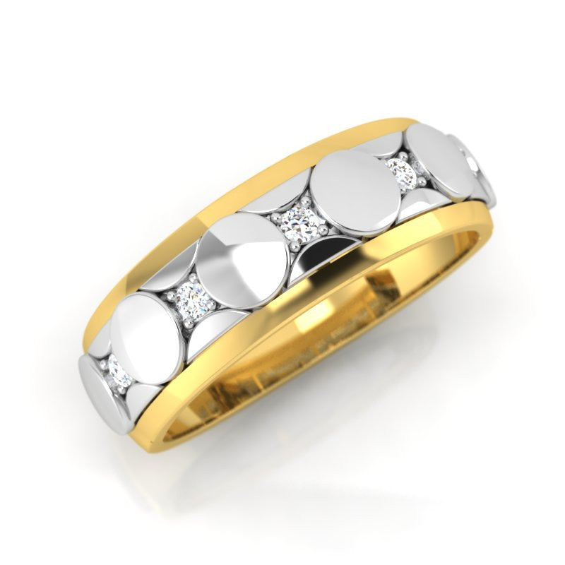 diamond studded gold jewellery - Gabriel Men's Ring - Pristine Fire - 1