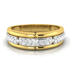 diamond studded gold jewellery - Georghe Men's Ring - Pristine Fire - 2