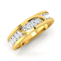 diamond studded gold jewellery - Jack Men's Ring - Pristine Fire - 1