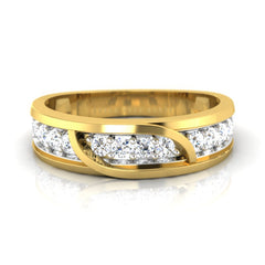 diamond studded gold jewellery - Jack Men's Ring - Pristine Fire - 2