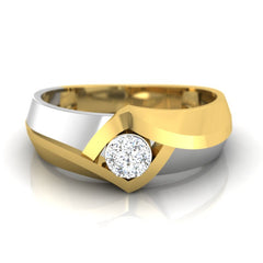 diamond studded gold jewellery - Jazzmin Band Ring - Pristine Fire - 2