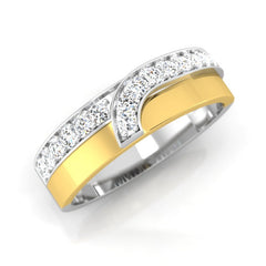 diamond studded gold jewellery - Jonathan Men's Ring - Pristine Fire - 1