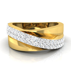 diamond studded gold jewellery - Zulfi Men's Ring - Pristine Fire - 2