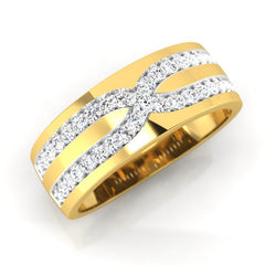 diamond studded gold jewellery - Joseph Men's Ring - Pristine Fire - 1