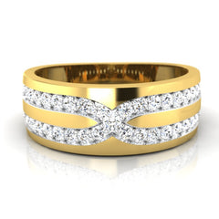 diamond studded gold jewellery - Joseph Men's Ring - Pristine Fire - 2