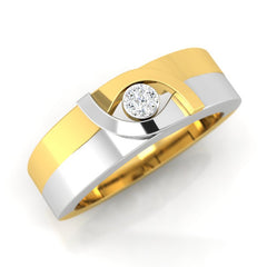 diamond studded gold jewellery - Jovanna Band Ring - Pristine Fire - 1