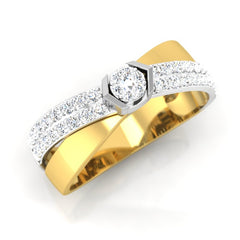 diamond studded gold jewellery - Julian Men's Ring - Pristine Fire - 1