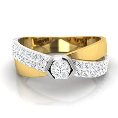 diamond studded gold jewellery - Julian Men's Ring - Pristine Fire - 2