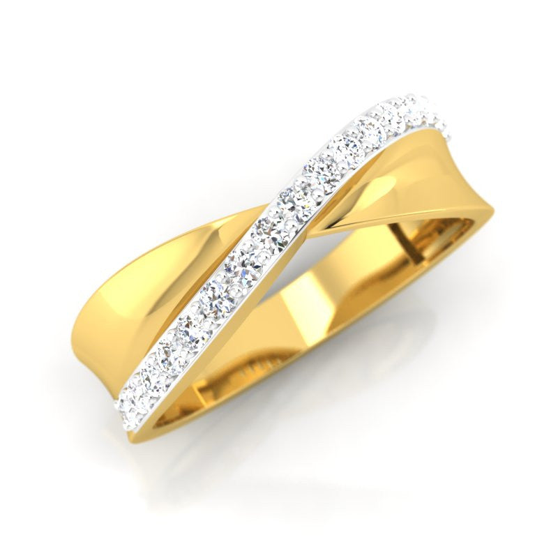 diamond studded gold jewellery - Julius Men's Ring - Pristine Fire - 1