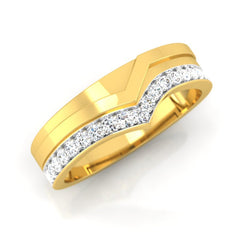 diamond studded gold jewellery - Justin Men's Ring - Pristine Fire - 1