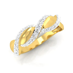 diamond studded gold jewellery - Manish Men's Ring - Pristine Fire - 1