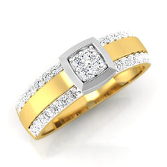 diamond studded gold jewellery - Manuel Men's Ring - Pristine Fire - 1