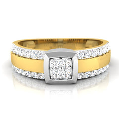 diamond studded gold jewellery - Manuel Men's Ring - Pristine Fire - 2