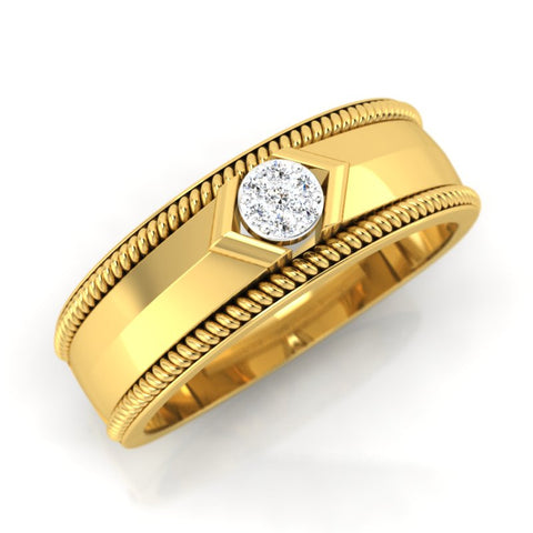 diamond studded gold jewellery - Marin Men's Ring - Pristine Fire - 1