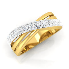 diamond studded gold jewellery - Mat Men's Ring - Pristine Fire - 1