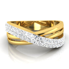 diamond studded gold jewellery - Mat Men's Ring - Pristine Fire - 2