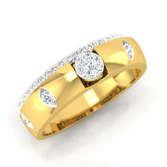 diamond studded gold jewellery - Mathew Men's Ring - Pristine Fire - 1