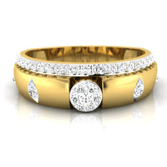 diamond studded gold jewellery - Mathew Men's Ring - Pristine Fire - 2