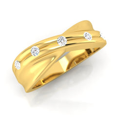 diamond studded gold jewellery - Melvin Men's Ring - Pristine Fire - 1