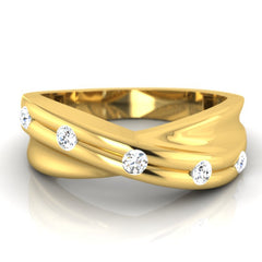 diamond studded gold jewellery - Melvin Men's Ring - Pristine Fire - 2
