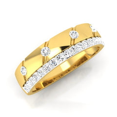 diamond studded gold jewellery - Miguel Men's Ring - Pristine Fire - 1