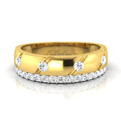 diamond studded gold jewellery - Miguel Men's Ring - Pristine Fire - 2