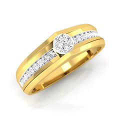 diamond studded gold jewellery - Mikhail Men's Ring - Pristine Fire - 1