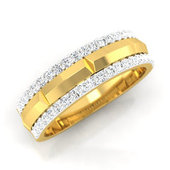 diamond studded gold jewellery - Parvez Men's Ring - Pristine Fire - 1
