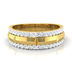 diamond studded gold jewellery - Parvez Men's Ring - Pristine Fire - 2