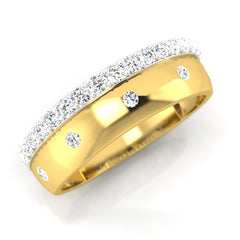 diamond studded gold jewellery - Patrick Men's Ring - Pristine Fire - 1