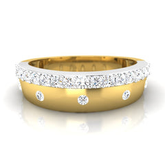 diamond studded gold jewellery - Patrick Men's Ring - Pristine Fire - 2