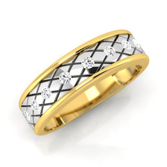 diamond studded gold jewellery - Paul Men's Ring - Pristine Fire - 1