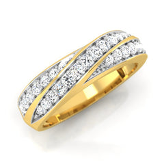 diamond studded gold jewellery - Romario Men's Ring - Pristine Fire - 1